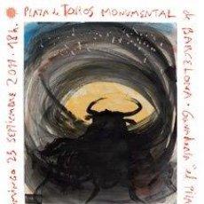 Carteles Toros: MIQUEL BARCELÓ: CARTEL ÚLTIMA CORRIDA DE TOROS EN LA MONUMENTALBARCELONA 2011. TAUROMAQUIA. Lote 206853627
