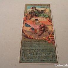 Carteles Toros: CARTEL TOROS EN VALENCIA AÑO 1926 - GALLO-JUAN BELMONTE…. Lote 146394694