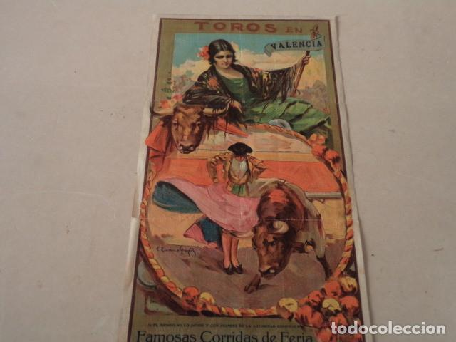 Carteles Toros: CARTEL TOROS EN VALENCIA AÑO 1926 - GALLO-JUAN BELMONTE… - Foto 2 - 146394694