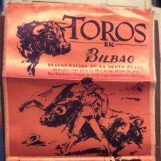 Carteles Toros: BILBAO 1962,CARTEL DE TOROS EN SEDA AÑO 1962 ,IDEAL COLECCIONISTAS MEDIDAS 44X24 CM. Lote 146526822