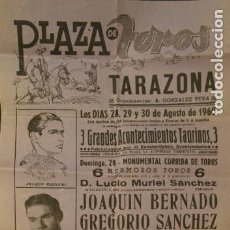 Carteles Toros: CARTEL PLAZA DE TOROS DE TARAZONA DE ARAGÓN. FERIA DE SAN AGUSTÍN. AGOSTO 1960.. Lote 146812106