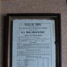 Carteles Toros: CARTEL DE TOROS DE MADRID. 29 DE ABRIL DE 1861. CAYETANO SANZ Y ANTONIO SÁNCHEZ (EL TATO) . Lote 146859934