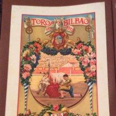 Carteles Toros: CARTEL DE TOROS BILBAO 1915-IDEAL COLECCIONISTAS. Lote 147092218