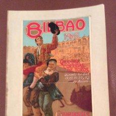 Carteles Toros: BILBAO 1906 CARTEL DE TOROS ,IDEAL COLECCIONISTAS. Lote 147093734