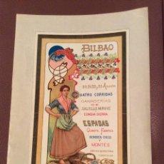 Carteles Toros: BILBAO 1905 CARTEL DE TOROS IDEAL COLECCIONISTAS. Lote 147094962