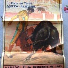Carteles Toros: PLAZA DE TOROS DE VISTA ALEGRE 1963. Lote 147310718