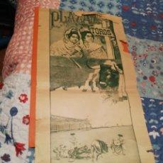 Carteles Toros: 45X23CM CARTEL RARO PLAZA DE TOROS DEL REAL SAN CARLOS URUGUAY 1910 CERCA DE LA INAUGURACIÓN PLAZA. Lote 147334554