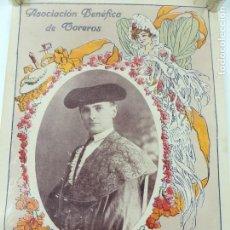 Carteles Toros: CARTEL DESPEDIDA RICARDO TORRES (BOMBITA) 1913- ASOCIACIÓN BENÉFICA TOREROS. Lote 147658898