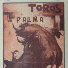 Carteles Toros: CARTEL TOROS PALMA DE MALLORCA - 17 DE SEPTIEMBRE DE 1933 - IMP. LIT. ORTEGA - RUANO LLOPIS. Lote 149116982
