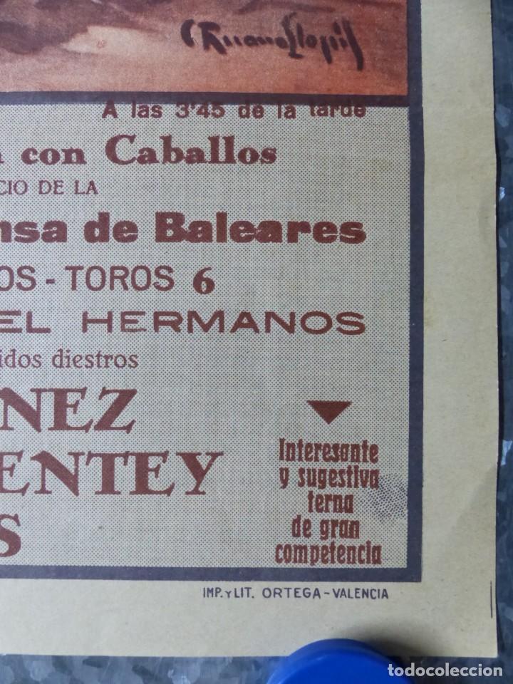 Carteles Toros: CARTEL TOROS PALMA DE MALLORCA - 17 DE SEPTIEMBRE DE 1933 - IMP. LIT. ORTEGA - RUANO LLOPIS - Foto 3 - 149116982
