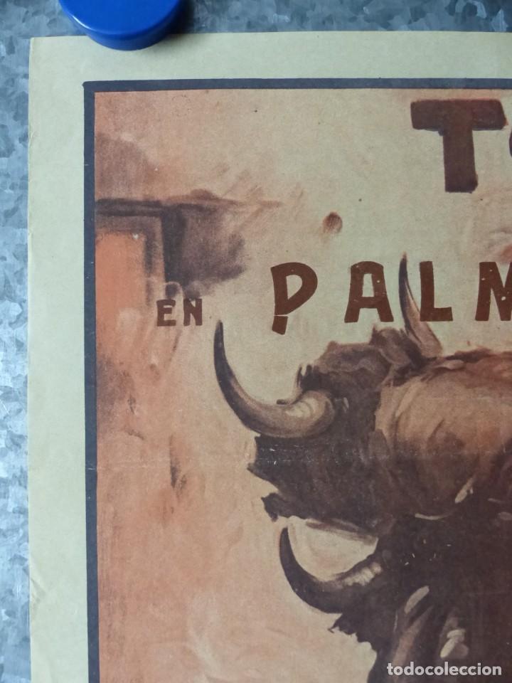 Carteles Toros: CARTEL TOROS PALMA DE MALLORCA - 17 DE SEPTIEMBRE DE 1933 - IMP. LIT. ORTEGA - RUANO LLOPIS - Foto 4 - 149116982