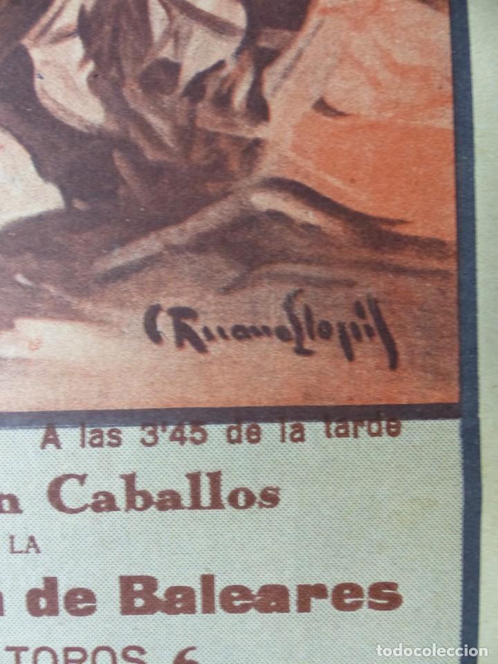 Carteles Toros: CARTEL TOROS PALMA DE MALLORCA - 17 DE SEPTIEMBRE DE 1933 - IMP. LIT. ORTEGA - RUANO LLOPIS - Foto 6 - 149116982