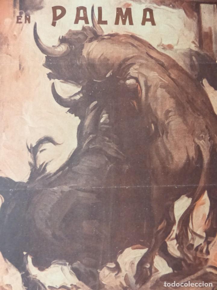 Carteles Toros: CARTEL TOROS PALMA DE MALLORCA - 17 DE SEPTIEMBRE DE 1933 - IMP. LIT. ORTEGA - RUANO LLOPIS - Foto 7 - 149116982