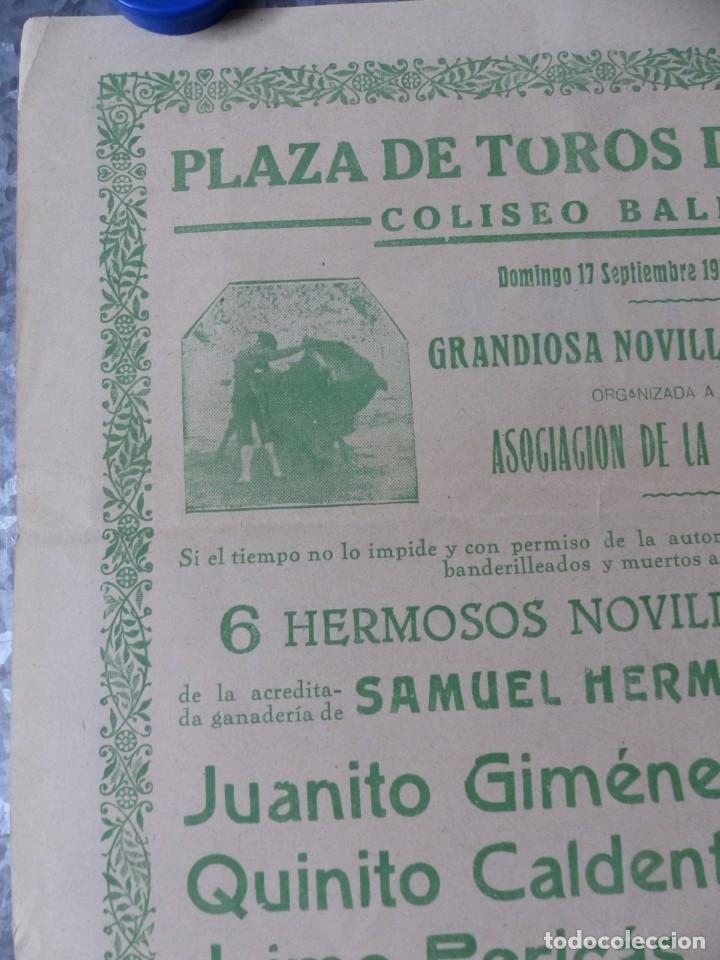 Carteles Toros: CARTEL TOROS PALMA DE MALLORCA - 17 DE SEPTIEMBRE DE 1933 - IMP. LIT. ORTEGA - RUANO LLOPIS - Foto 9 - 149116982