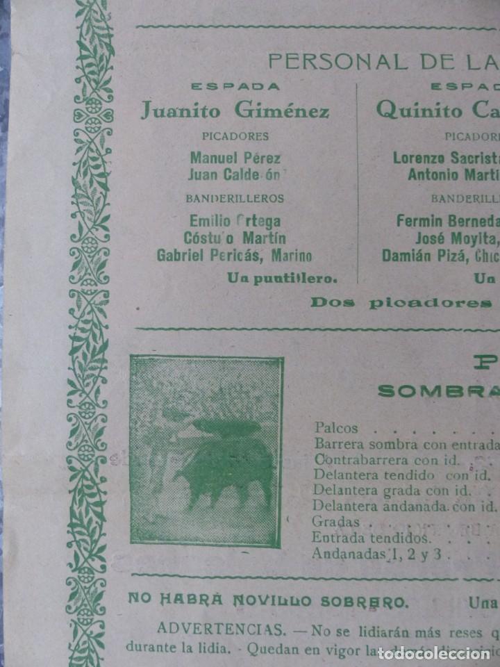 Carteles Toros: CARTEL TOROS PALMA DE MALLORCA - 17 DE SEPTIEMBRE DE 1933 - IMP. LIT. ORTEGA - RUANO LLOPIS - Foto 11 - 149116982
