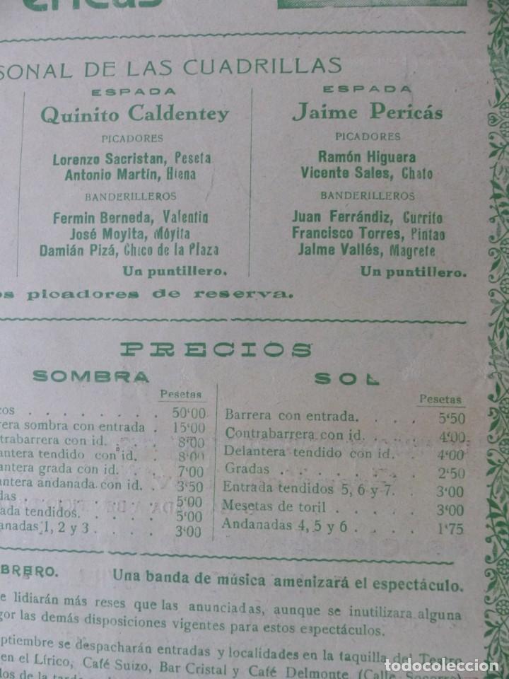 Carteles Toros: CARTEL TOROS PALMA DE MALLORCA - 17 DE SEPTIEMBRE DE 1933 - IMP. LIT. ORTEGA - RUANO LLOPIS - Foto 12 - 149116982