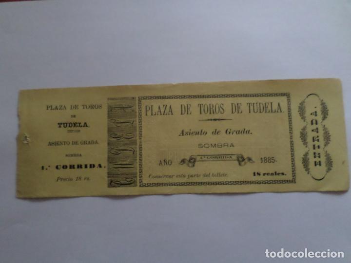 ENTRADA PLAZA DE TOROS DE TUDELA NAVARRA AÑO 1885 (Coleccionismo - Carteles Gran Formato - Carteles Toros)