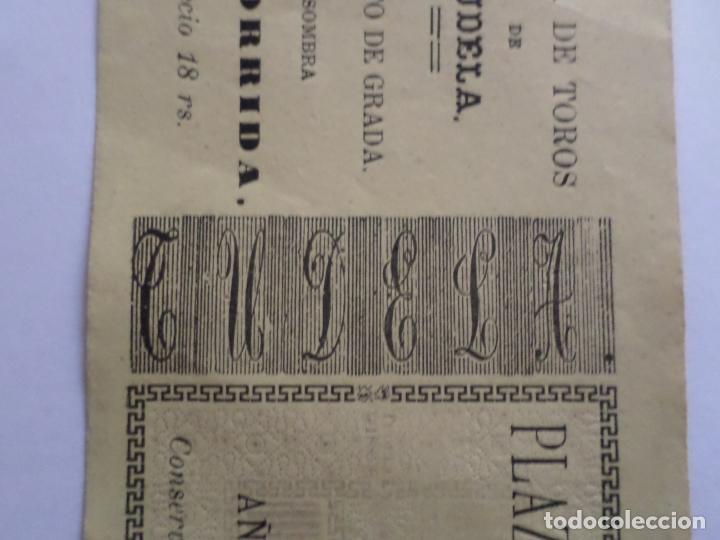Carteles Toros: ENTRADA PLAZA DE TOROS DE TUDELA NAVARRA AÑO 1885 - Foto 5 - 149494674