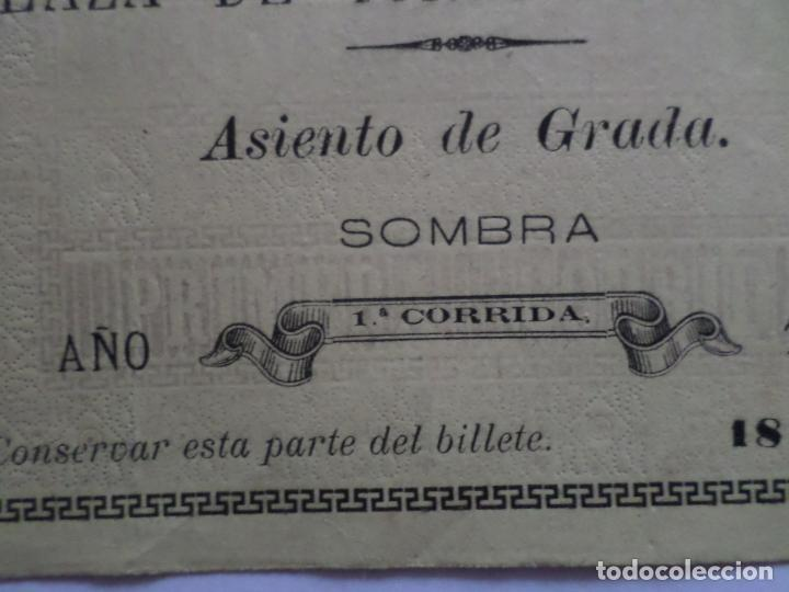 Carteles Toros: ENTRADA PLAZA DE TOROS DE TUDELA NAVARRA AÑO 1885 - Foto 7 - 149494674