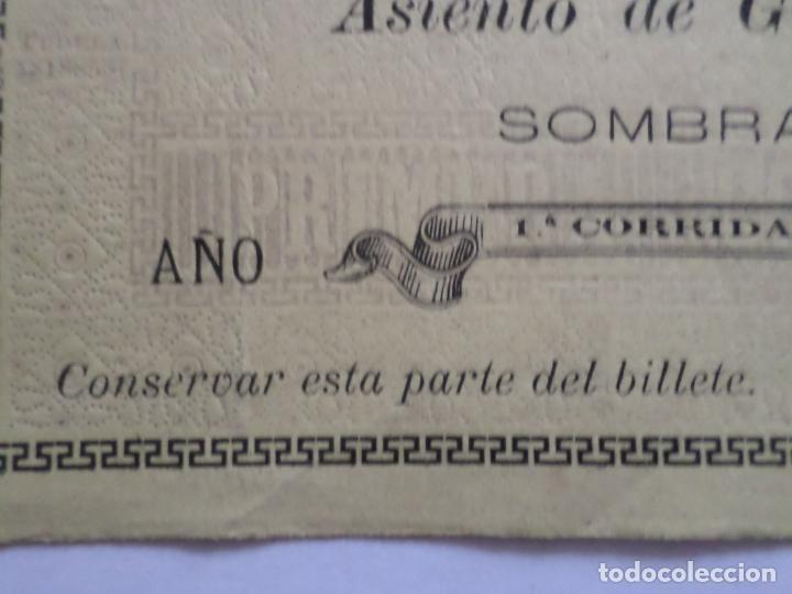 Carteles Toros: ENTRADA PLAZA DE TOROS DE TUDELA NAVARRA AÑO 1885 - Foto 8 - 149494674