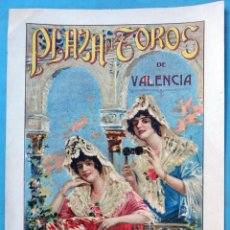 Carteles Toros: CARTEL TOROS , PLAZA DE VALENCIA 1922, GENARO PALAU , LITOGRAFIA , ORIGINAL. Lote 149986294