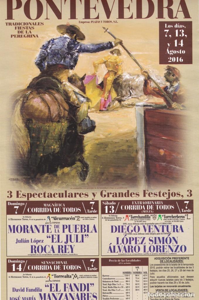 Cartel Plaza De Toros De Pontevedra Fiestas De Comprar Carteles Antiguos Toros En Todocoleccion 152314273