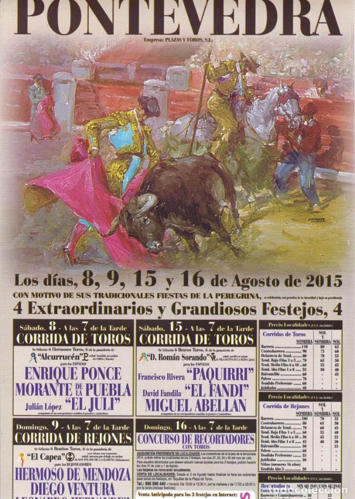 Cartel Plaza De Toros De Pontevedra Fiestas De Kaufen Alte Plakate über Den Stierkampf Und Stiere In Todocoleccion 150492462