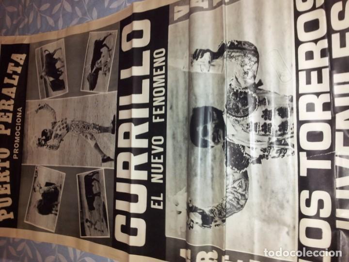 Carteles Toros: TOROS EN SAN FERNANDO NOVILLADA SIN P. 1971 GRN CARTEL MEDIDAS 70 X 210 - Foto 2 - 150950234