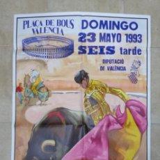Carteles Toros: VALENCIA - BONITO CARTEL GRANDE DE TOROS - LITOGRAFÍA - AÑO 1993 - ILUSTRADOR: ALVAREZ CARMENA. Lote 151421518