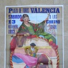 Carteles Toros: VALENCIA - BONITO CARTEL GRANDE DE TOROS - LITOGRAFÍA - AÑO 1993 - ILUSTRADOR: RUANO LLOPIS. Lote 151422082