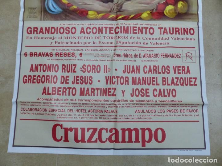 Carteles Toros: Valencia - Bonito Cartel Grande de Toros - Litografía - año 1993 - ilustrador: Ruano Llopis - Foto 4 - 151422082