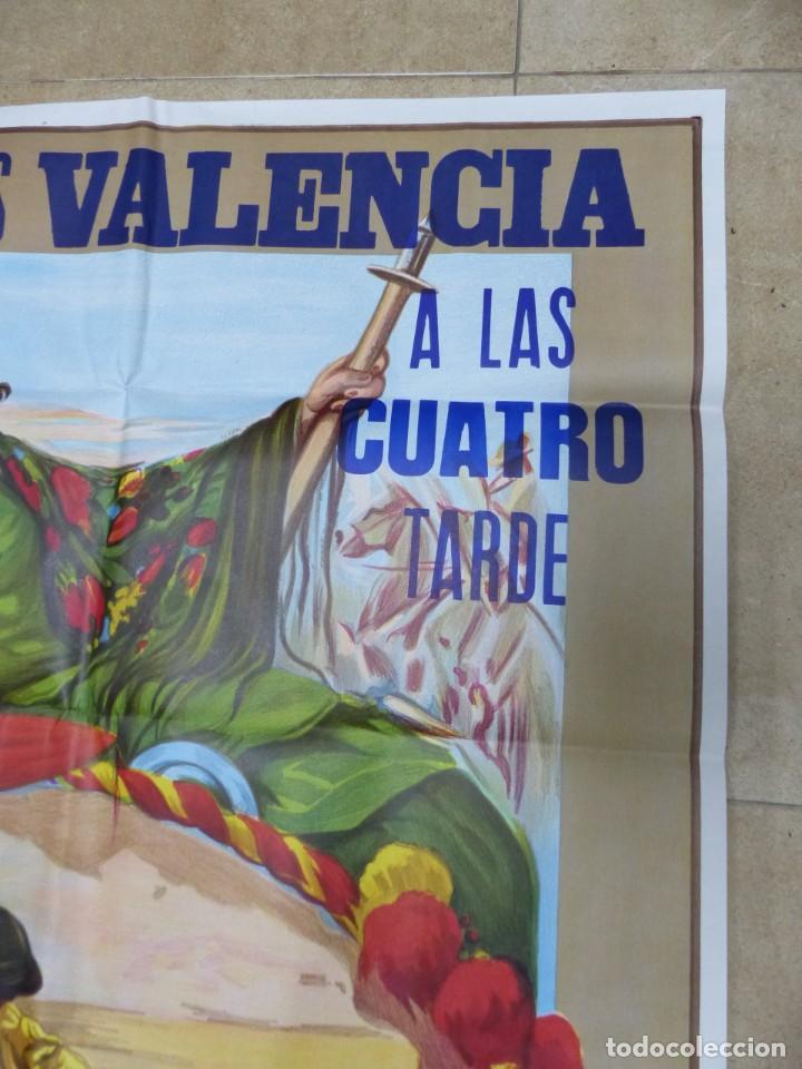 Carteles Toros: Valencia - Bonito Cartel Grande de Toros - Litografía - año 1993 - ilustrador: Ruano Llopis - Foto 5 - 151422082