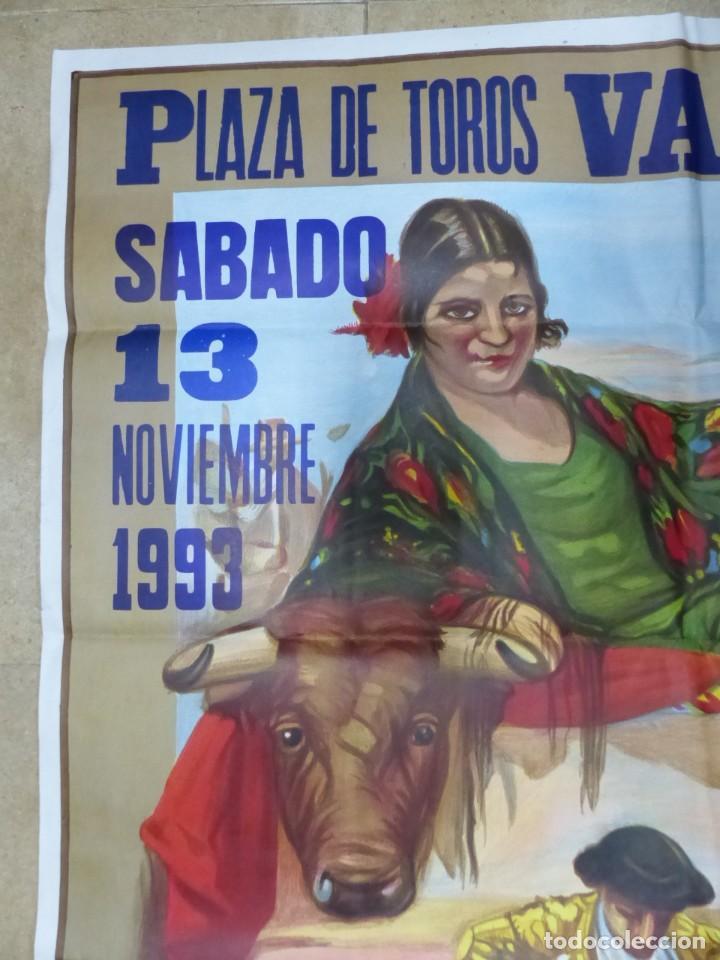 Carteles Toros: Valencia - Bonito Cartel Grande de Toros - Litografía - año 1993 - ilustrador: Ruano Llopis - Foto 6 - 151422082