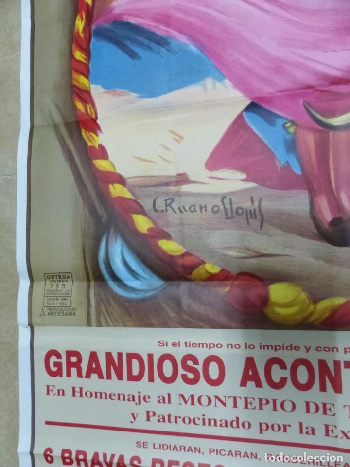 Carteles Toros: Valencia - Bonito Cartel Grande de Toros - Litografía - año 1993 - ilustrador: Ruano Llopis - Foto 7 - 151422082