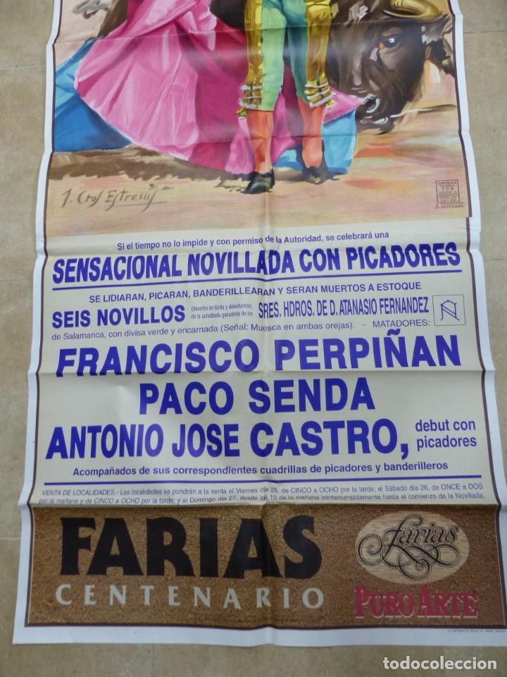 Carteles Toros: Valencia - Bonito Cartel Grande de Toros - Litografía - año 1992 - ilustrador: J. Cros Estrems - Foto 3 - 151422862