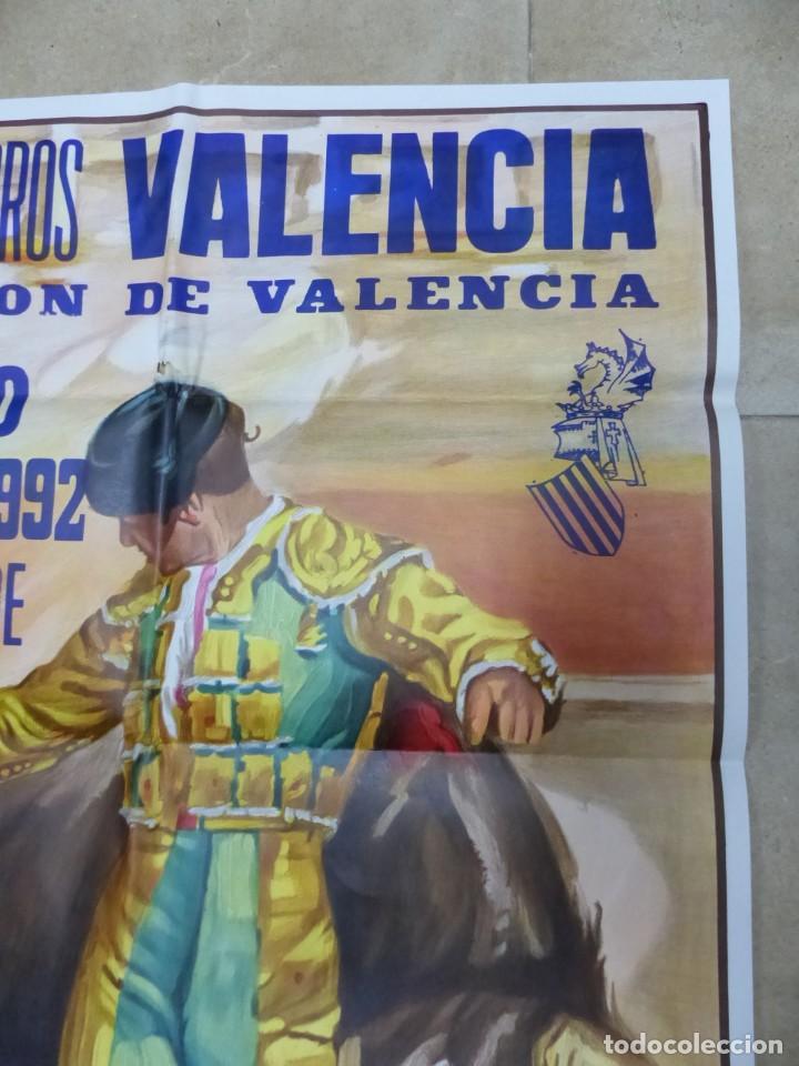 Carteles Toros: Valencia - Bonito Cartel Grande de Toros - Litografía - año 1992 - ilustrador: J. Cros Estrems - Foto 5 - 151422862