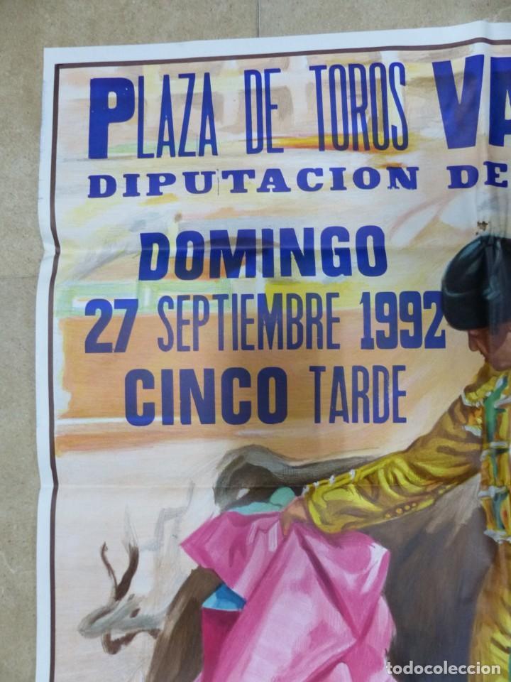 Carteles Toros: Valencia - Bonito Cartel Grande de Toros - Litografía - año 1992 - ilustrador: J. Cros Estrems - Foto 6 - 151422862