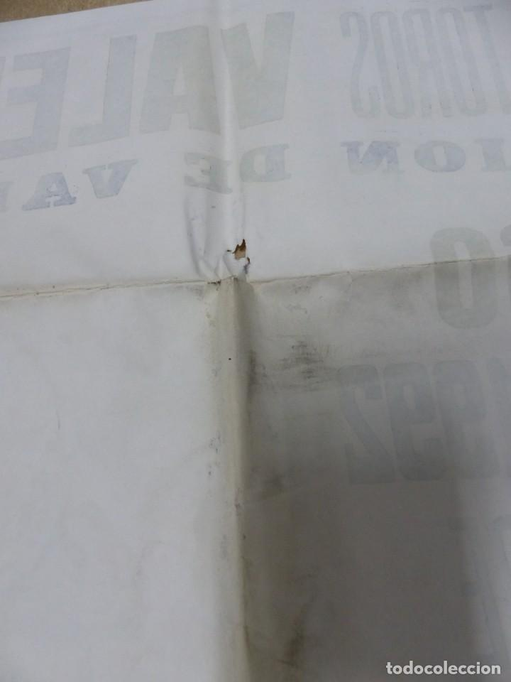 Carteles Toros: Valencia - Bonito Cartel Grande de Toros - Litografía - año 1992 - ilustrador: J. Cros Estrems - Foto 9 - 151422862