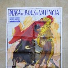 Carteles Toros: VALENCIA - BONITO CARTEL GRANDE DE TOROS - LITOGRAFÍA - AÑO 1995 - ILUSTRADOR: RUANO LLOPIS. Lote 151423250