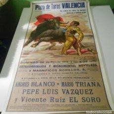 Carteles Toros: CARTEL TOROS VALENCIA 1979 ORIGINAL VICENTE RUIZ EL SORO PLAZA TOROS VALENCIA ESPAÑA 1979 SPAIN. Lote 151596266