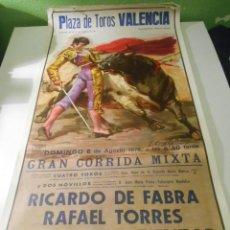 Carteles Toros: CARTEL TOROS VALENCIA 1978 ORIGINAL RICARDO FABRA RAFAEL TORRES MARIBEL ATIENZAR. Lote 151598234