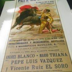 Carteles Toros: CARTEL TOROS VALENCIA 1979 ORIGINAL VICENTE RUIZ EL SORO PLAZA TOROS VALENCIA 1979 ESPAÑA SPAIN. Lote 151598678
