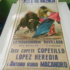 Carteles Toros: CARTEL TOROS COPETILLO LOPEZ HEREDIA MACANDRO 1975 ORIGINAL PLAZA TOROS VALENCIA. Lote 151609846