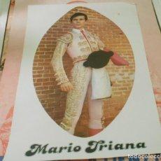 Carteles Toros: TOROS CARTEL ORIGINAL MARIO TRIANA AÑOS 1970 RAREZA. Lote 151615398