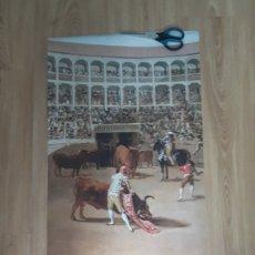 Carteles Toros: CARTEL DE LA ENCERRONA HISTORICA DE MORANTE EN RONDA BANDERILLAS SILLA 2013. Lote 152127654