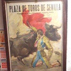 Carteles Toros: CARTEL TOROS HISTÓRICO CURRO ROMERO 6 TOROS URQUIJO SEVILLA. Lote 152138414