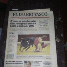 Carteles Toros: PADILLA EN SAN SEBASTIAN / DIARIO VASCO 20 AGOSTO 2001. Lote 152195718