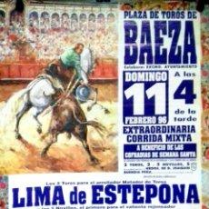 Carteles Toros: CARTEL. PLAZA DE TOROS DE BAEZA. EXTRAORDINARIA CORRIDA MIXTA.1996. LEER.. Lote 152375994