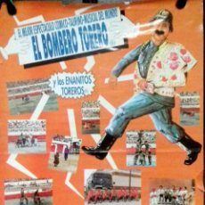 Carteles Toros: PLAZA DE TOROS DEL PUERTO DE SANTA MARIA. ESPECTACULO COMICO-TAURINO. EL BOMBERO TORERO. 1995.. Lote 152376490
