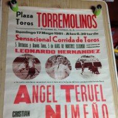 Carteles Toros: PLAZA DE TOROS TORREMOLINOS 1981 EL TOREO S.A. Lote 152952802